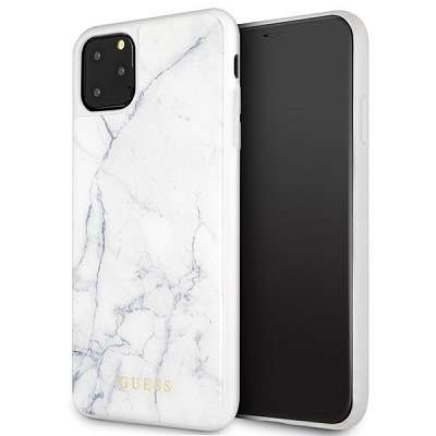 Originalen ovitek Guess (White marble) za iPhone 11 Pro Max