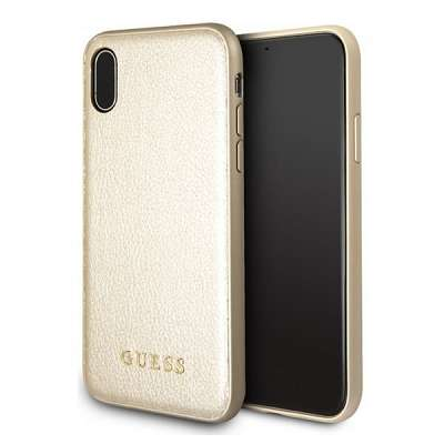 Originalen ovitek Guess (gold) za iPhone X/XS