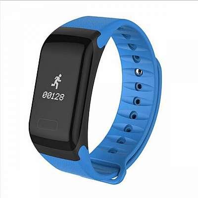 Pametna zapestnica F1 (modra) z merilcem krvnega tlaka