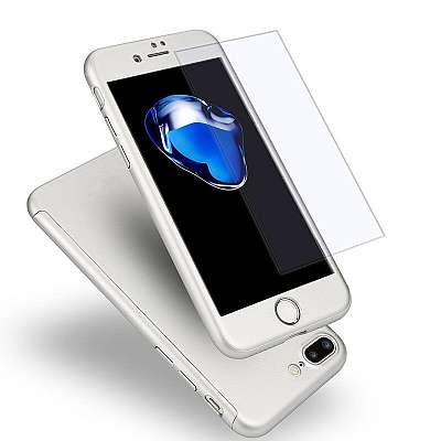 Ovitek 360° (srebrn) za Apple iPhone 6 Plus/6s Plus