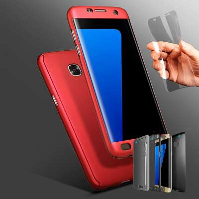 Ovitek 360° (rdeč) za Samsung Galaxy S7 Edge